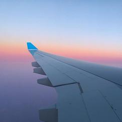 Dans les airs