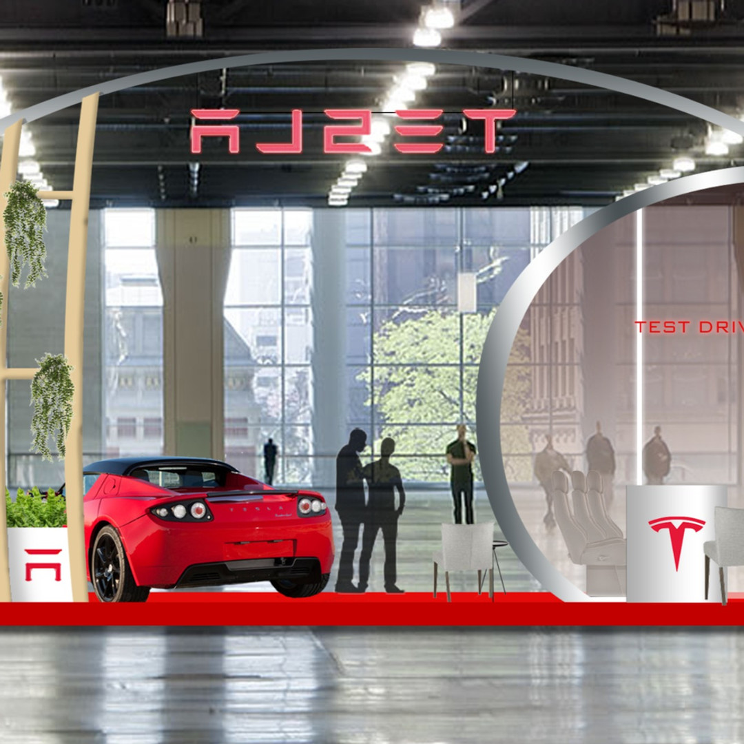 Commerical project - Exhibition stand for Tesla