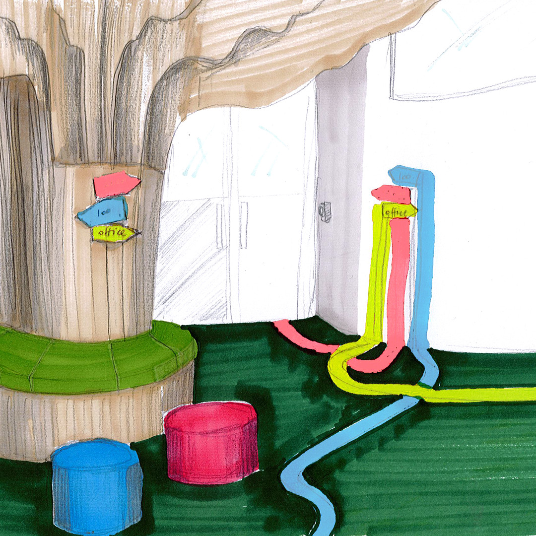 Commerical - sketch for new Primary School reception