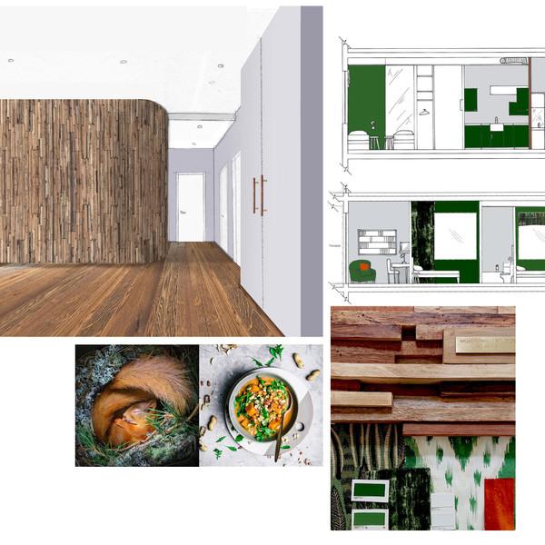 Residential Design for Family Apartment
