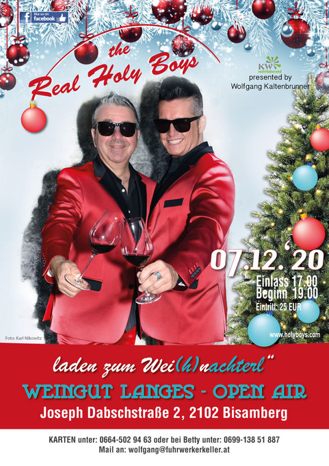 7.12.2020 The Real Holy Boys im Weingut Langes