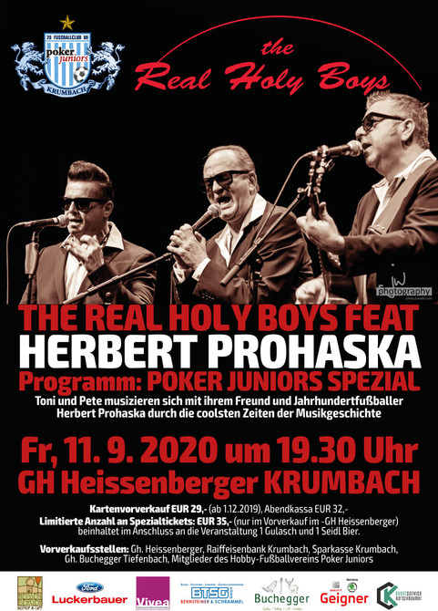ERSATZTERMIN FOLGT 2021!!!! The Real Holy Boys feat. Herbert Prohaska