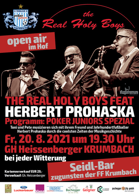 20.08.2021, THE REAL HOLY BOYS FEAT. HERBERT PROHASKA POKER JUNIORS SPEZIAL