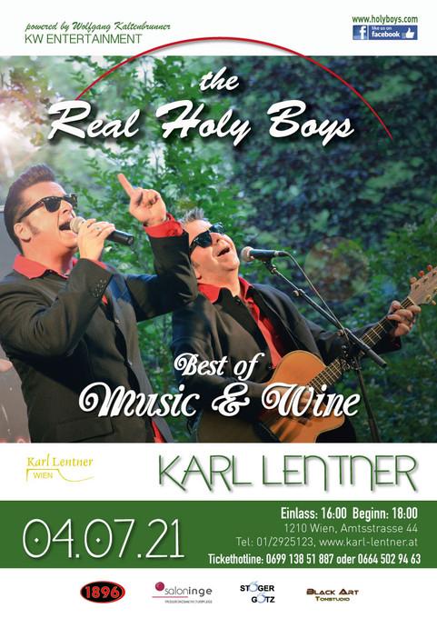"4.7.2021 ""The Real Holy Boys"" OPEN AIR""Best of Music und Wine""!ALBUM PRÄSENTATION!!"