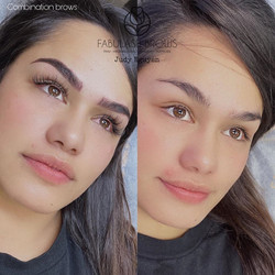 eyelash extension & combination brows