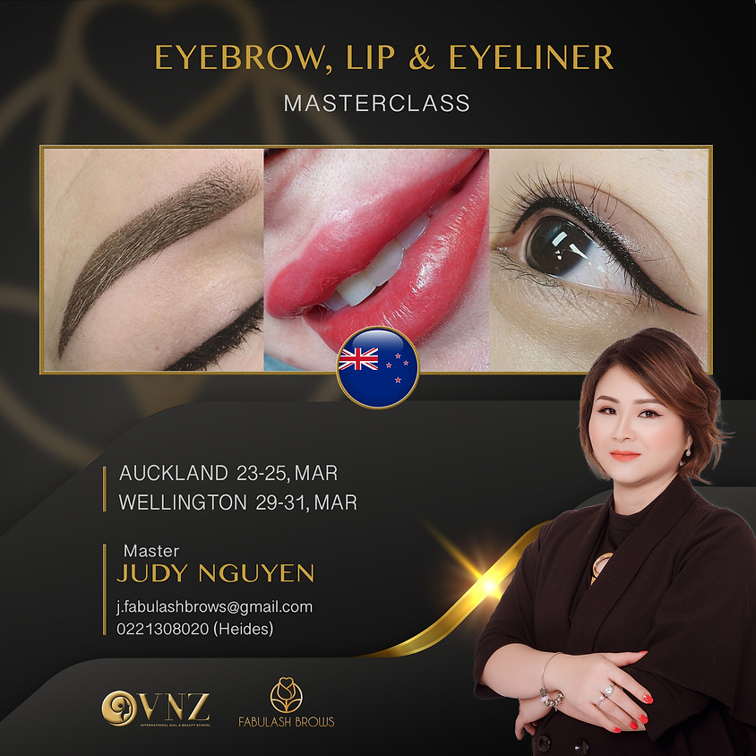 Eyebrow, Lip & Eyeliner MasterClass - Wellington 28-30 September 2020