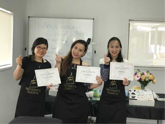 Congratulations to Master Judy Nguyen's Phibrows students