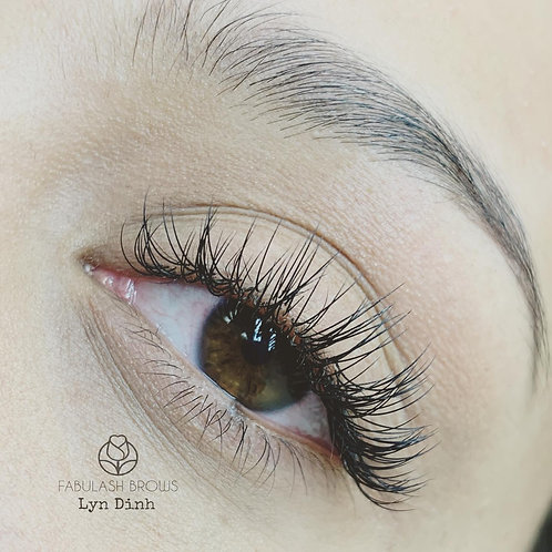 Mixed Classic and Volume Lash Extension