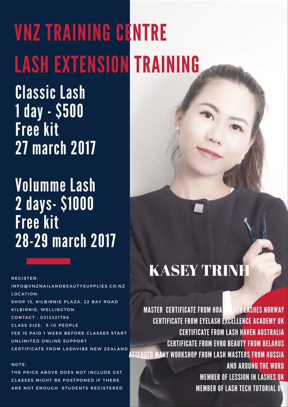 Lash Extension Training now opens