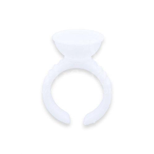 Plastic Pigment Ring 100pcs