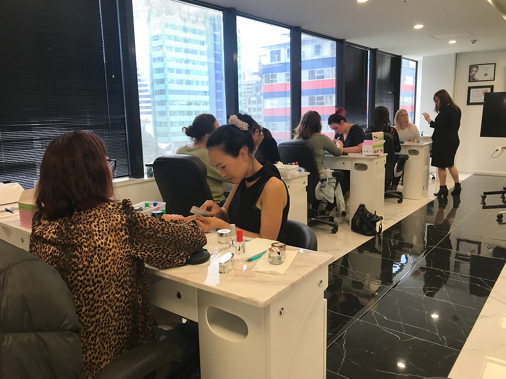 Students in the SNS Nail Training at VNZ school
