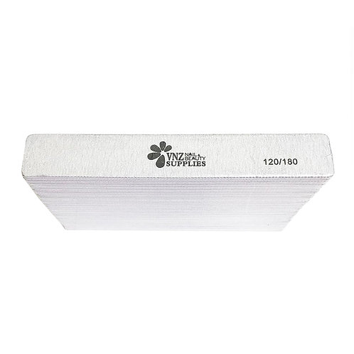 Acrylic/Gel Nail File 120/180 Pack Of 25