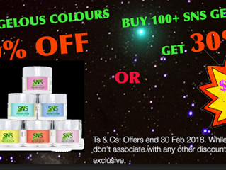 February Specials - Up To 30% OFF SNS Gelous Colours