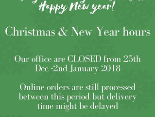 Our Christmas & New Year Hours
