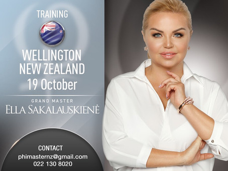 PhiRemoval Training with Grand Master Ella Sakalauskiene in Wellington, Melbourne and Perth.
