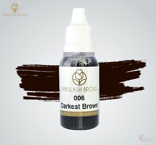 Fabulash Brows Pigment 15ml Darkest Brown