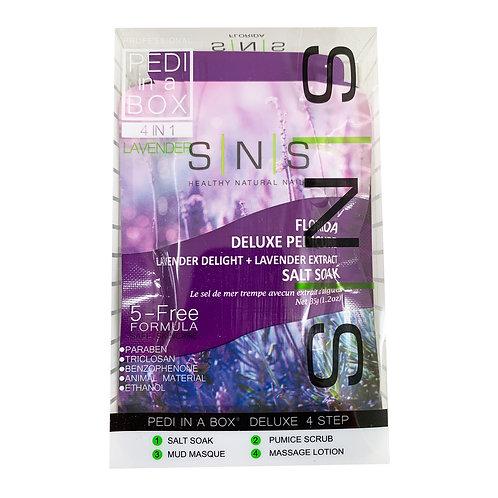 SNS - PEDI IN A BOX - 4 IN 1 - LAVENDER / 1 TREATMENT SET