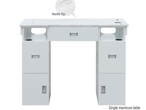 Single Manicure Table Marble Top