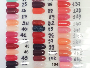 SNS Gelous colours updated May 2018