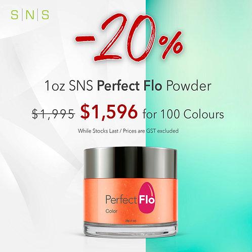 100 SNS Perfect Flo Powder size 1oz