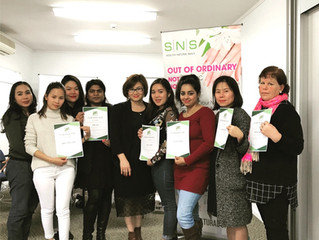 Congratulations to our ladies who recently gained SNS products training Certificates - July 2017