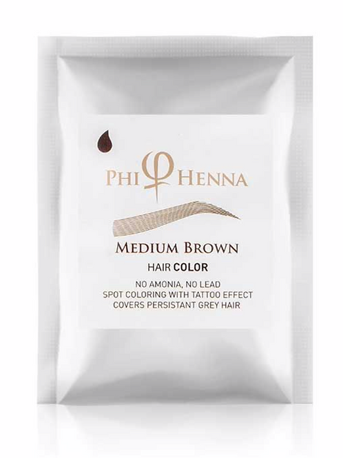 Phi Henna Medium Brown 3/1