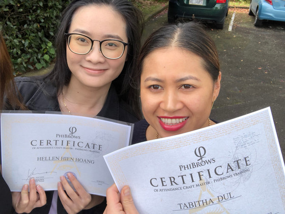 Congratulations to our students recently done Phibrows Basic Training in Auckland