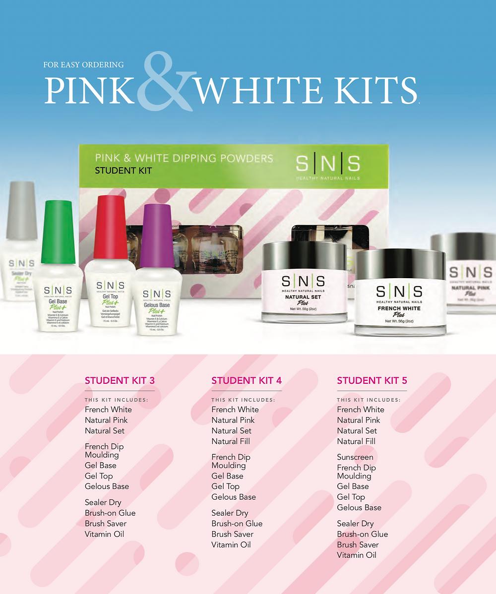 Sns natural nail dipping powder student kit