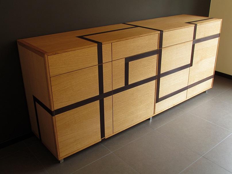 meuble en chêne-wengé