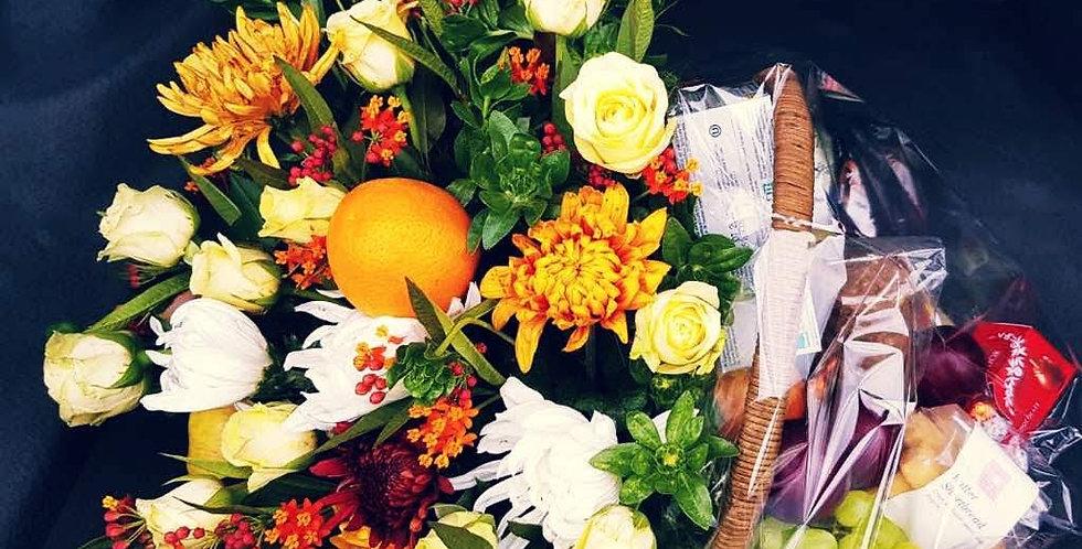 Large Floral Fruit Basket