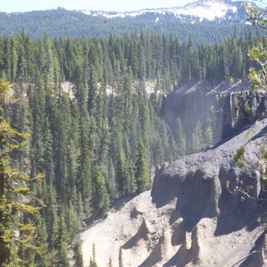 Ash canyons outside Crater Lake