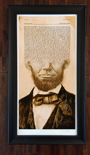 Lincoln's 2nd Inaugural Address Print
