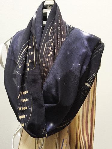 Debussy Clair de Lune silk scarf