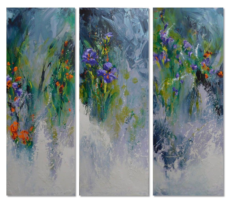 Garden Evening triptych