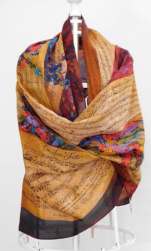 Mozart Cosi Fan Tutte Oblong Silk Scarf