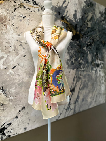 Mozart Figaro oblong silk wrap