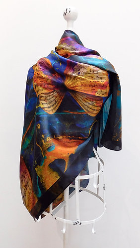 Puccini Madame Butterfly Silk Scarf