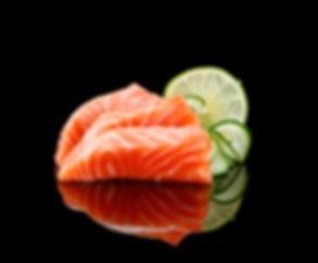 Japanse cuisine. Sushi on a black table.