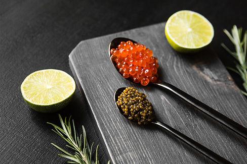 chic expensive red caviar, pike caviar a