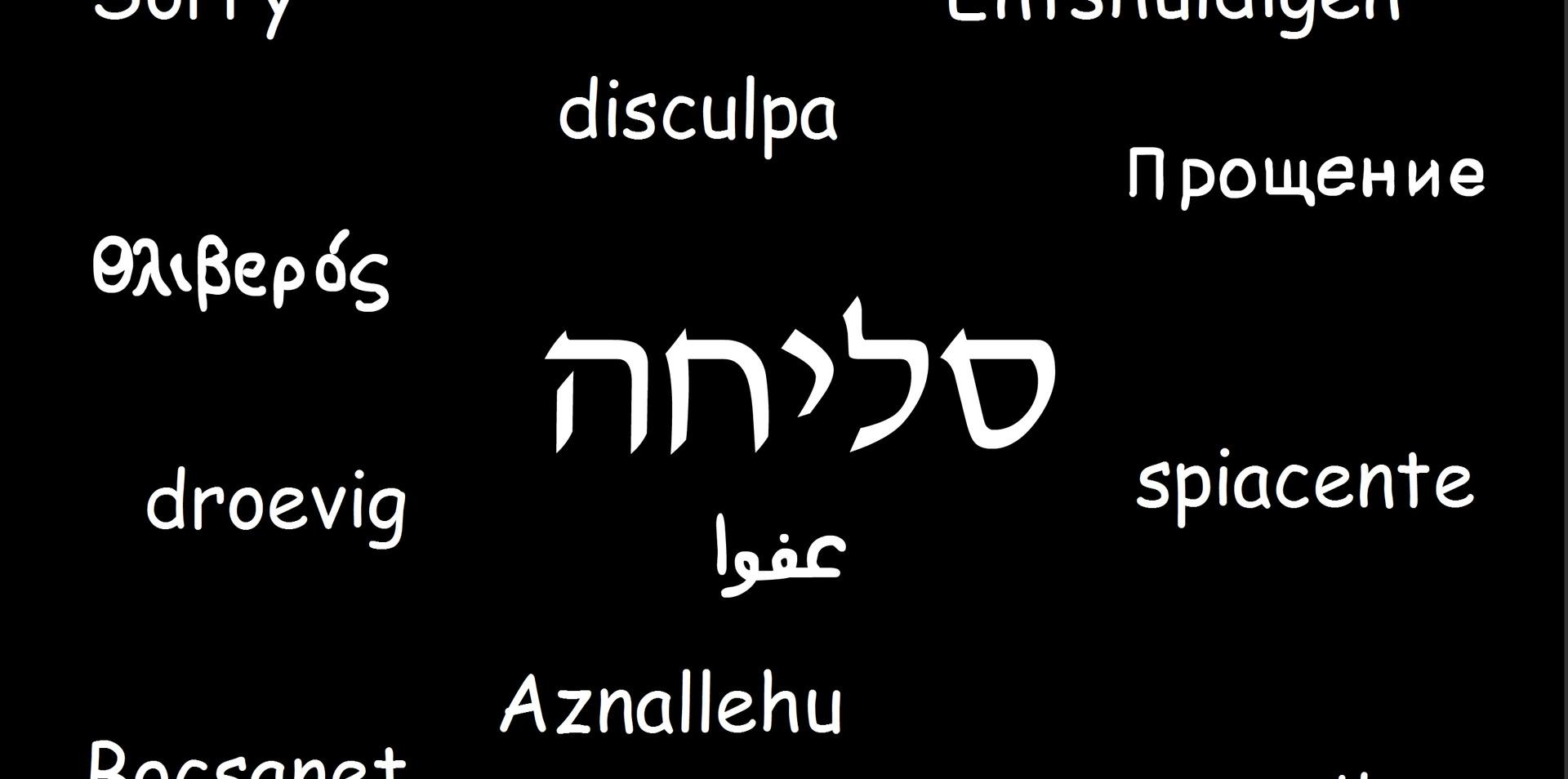 סליחה בשפות