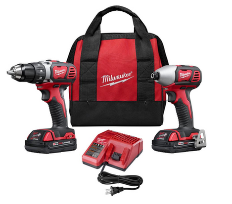 Milwaukee Driver:Impact Driver Combo Kit