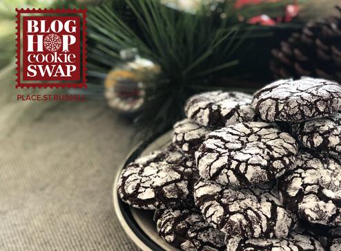 Blog Hop Cookie Swap: The St Russell's Crinkle Cookies