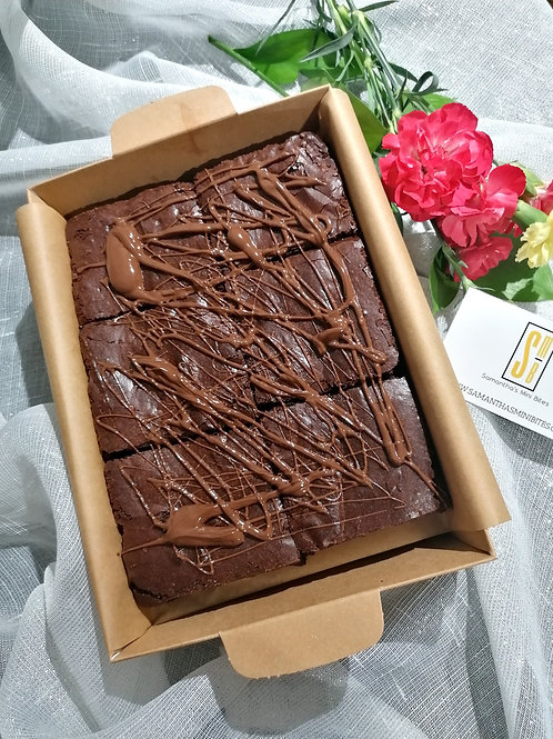 THE POSTAL DOUBLE CHOC BROWNIES