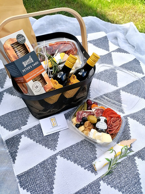 THE BOOZY LUX PICNIC BASKET (feeds 2)