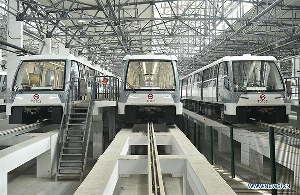 รถไฟฟ้าแบบไร้คนขับเริ่มทดลองใช้งานที่เซี่ยงไฮ้