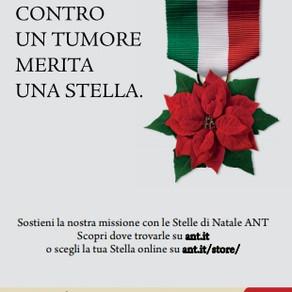 Regalo di Natale solidale: stella di Natale dell'ANT