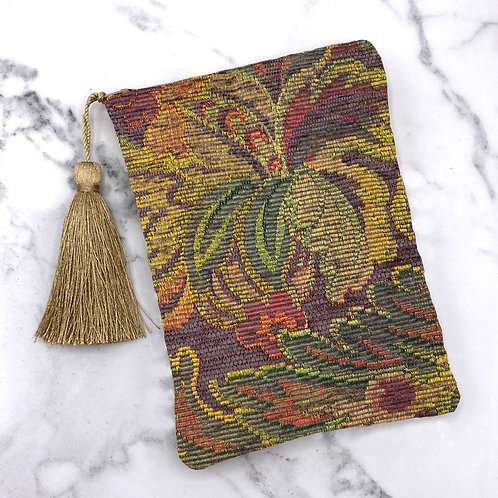 Floral Tapestry Tarot Bag- Silk Lined, 5x7