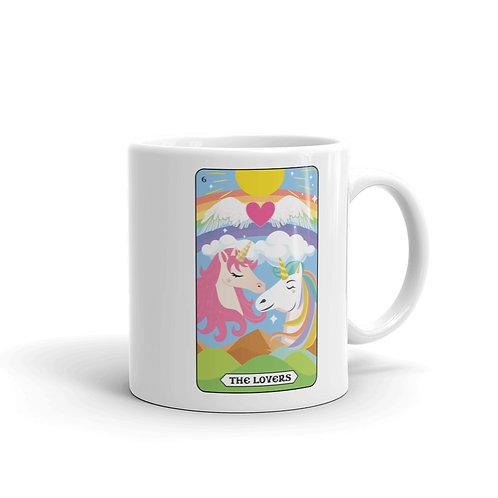 THE LOVERS MUG from the Rainbow Unicorn Tarot