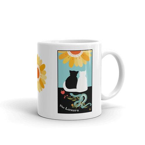 THE LOVERS MUG- Blooming Cat Tarot