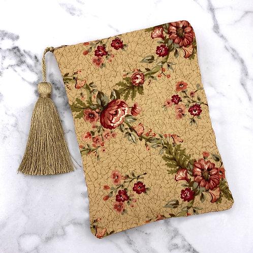 Victorian Floral Silk Lined Tarot Bag- Silk Lined 5x7